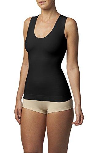 SLEEX Shapewear Figurformendes Damen Unterhemd (Racerback) (44043), Schwarz, Groesse M/L - Body Shaper Damen