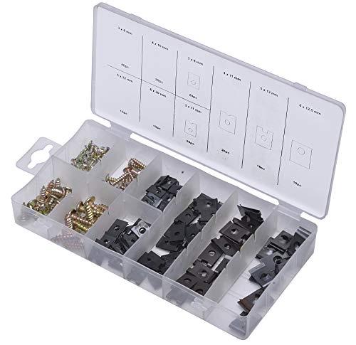 Craft-Equip 170 tlg Blechschrauben Set Karosserie Schrauben Blechmuttern