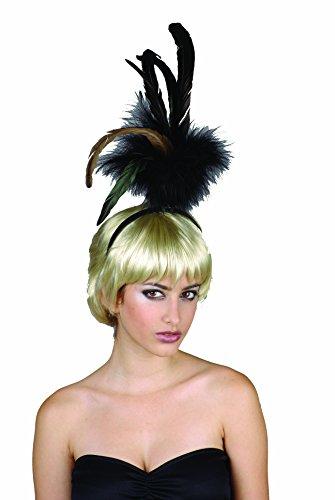 Rire Et Confetti - Fiefla017 - Accessoire pour Déguisement - Perruque - Show Girl - Cheveux + Plume - Blond