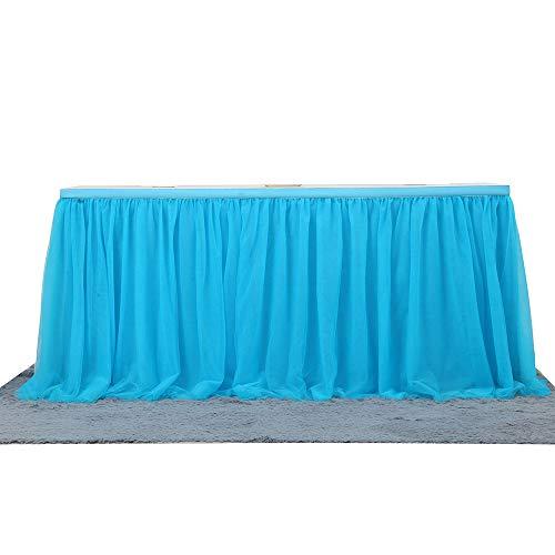 Faldón romántico de tul para decoración de mesa para fiestas, fiestas de...