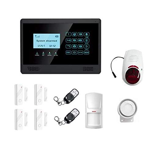 Antifurto GSM Wireless, senza fili, controllabile da cellulare, colore nero, LKM Security...