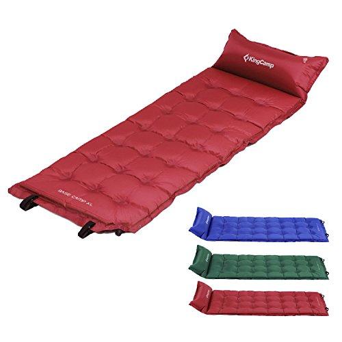 KingCamp Colchoneta para acampar ultraligera autoinflable individual resistente para acampar cama inflable para tienda acampar senderismo montañismo viaje en coche mochilero para adultos al aire libre
