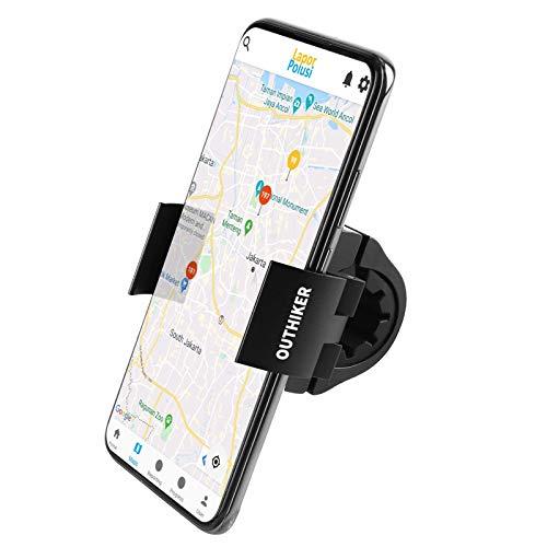OUTHIKER Supporto Cellulare da Bici, Porta Cellulare da Bici Moto 90° Rotabile Anti-Shake Supporto per Telefono Smartphone da 4 a 6.7 Pollici per MTB Bici da Corsa da Strada