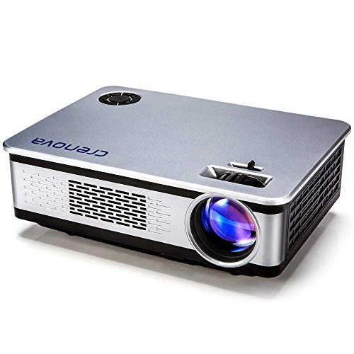"""Full HD Movie Projector, Video Projector with 200"""" Projection Size, Support 1080P HDMI VGA AV USB with Native Resolution 1280x768 3600 Lux Compatible Amazon Fire TV Stick,HDMI,VGA, AV, USB, SD"""