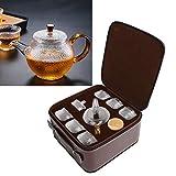 Juego de té de vidrio térmico, fácil descalcificación Taza de agua caliente, simple y lavable Conveniente para bebidas calientes/té helado, viajes,