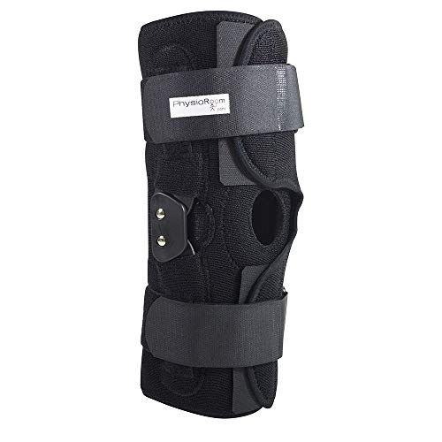 PhysioRoom Hinged Knee Brace - Knee Ligament ACL Support Elite Pro Large