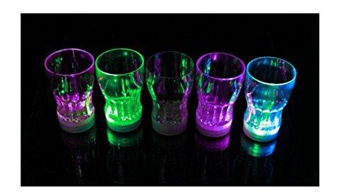 HaoYiShang 7 LED-Lichter, automatisch wechselnde Farbe, blinkend, für Coke-Cola, Saft, Getränke, Becher, für Party, Bar