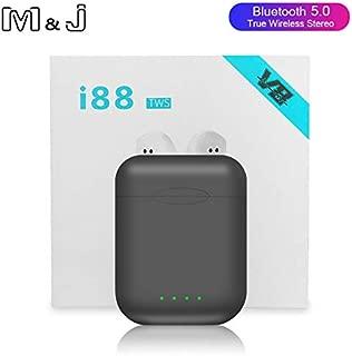 M&J i88 TWS Wireless Bluetooth 5.0 earphone Earbuds Sports Gaming Headsets headphones For i10 tws i12 i30 i60 tws Iphone Xiaomi (grey)