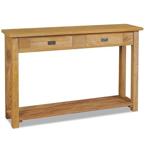 Festnight Konsolentisch Beistelltisch Tischkonsole Massivholz Teak 120×30×80 cm