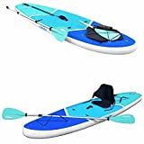 """Zupapa Upgrade Inflatable Stand Up Paddle Board 6"""" Thick 11 FT Kayak Convertible All Accessories..."""