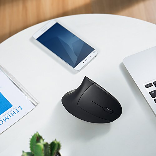 Anker 2.4G Wireless Maus Vertikale Ergonomische Funkmaus Vertical Mouse Kabellos für Windows, Mac OS, USB, 800/1200/1600 DPI, 5 Tasten