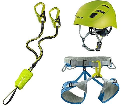 EDELRID Klettersteigset Cable Comfort 5.0 + Gurt Größe L + Kletter-Helm