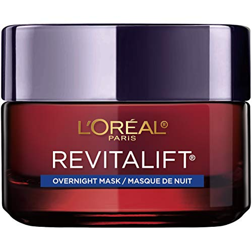 Night Mask Moisturizer, L'Oreal Paris Revitalift Triple Power Intensive Overnight Face Mask with Pro Retinol, Vitamin C and Hyaluronic Acid, to Visibly Reduce Wrinkles, Firm and Brighten Skin, 1.7 Oz