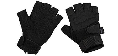 Unbekannt MFh Fingerlose Tactical Handschuhe Protect Taktische Einsatzhandschuhe ohne Finger Securitygloves Polizei verschiedene Ausführungen (L, Schwarz)
