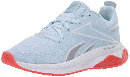 Reebok Women's LIQUIFECT 180 SPT Running Shoe, Glass Blue/White/Vivid Orange, 8.5 M US