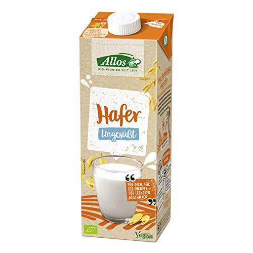 Allos - Hafer Drink ungesüßt - 1 l - 12er Pack