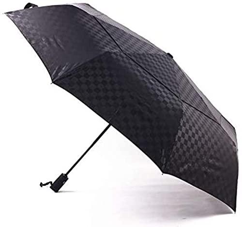 dh-2 Paraguas En Relieve Cuadrado Doble Grande Automático 27 Pulgadas A Prueba De Viento Acero Hueso Negocio Aumento Negro