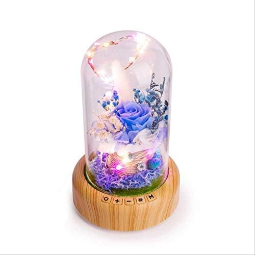 Mirage Bella Apariencia de la Botella Deseando Altavoces Bluetooth llevó la luz de la Navidad Caja acústica inalámbrica!si (Color : B)