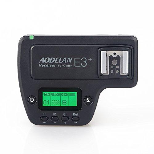 AODELAN E3 + Blitzauslöser Empfänger Blitzgerät Zubehör für Canon 580EXII / 580EX / 550EX / 430EXII / 320EX / 270EXII / 270EX
