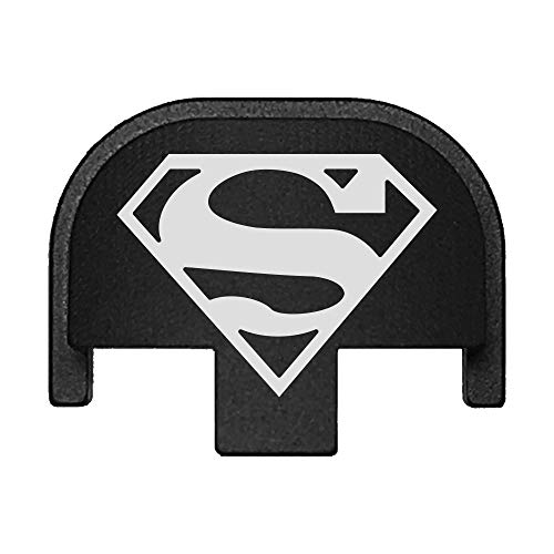 BASTION Laser Engraved Rear Cover Slide Back Plate for Smith & Wesson SD9VE, SD9, SD40VE, SD40. 9mm & .40 Cal - Superman