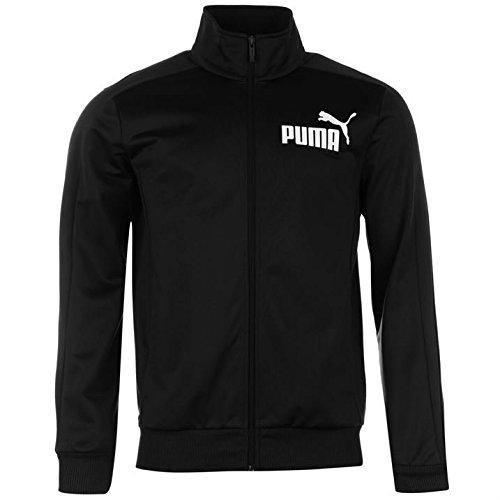 Puma Mens Track Jacket Outerwear Full Zip Mock Neck Long Sleeve Ribbed Cuffs 7368889e45