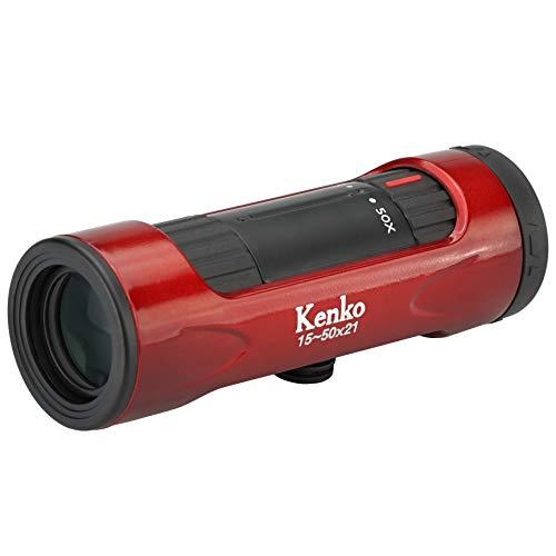 Kenko 単眼鏡 ウルトラビューI 15~50×21 15~50倍 21mm口径 ズーム式 レッド 429075