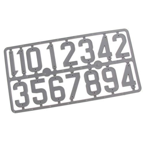 SDENSHI Tablero de Marcado de Marco de Signo de Número de Tarjeta de Plástico de Colmena Apicultura - Gris