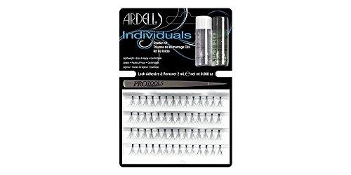 ARDELL Individuals Starter Kit, Eye-lashes Einzelwimpern aus Echthaar inklusive Kleber, Entferner und einer Pinzette, schwarz, black (1x)