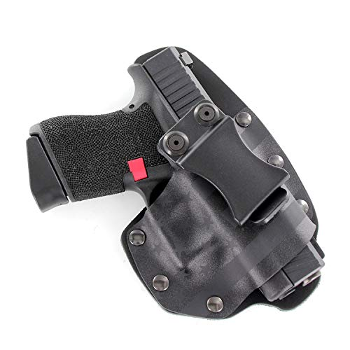 USA Stealth Black IWB Hybrid Concealed Carry Holster (Right-Hand, Fits Glock Polymer 80 - PF940C, PF940V2, PF940CL, PF940SC)