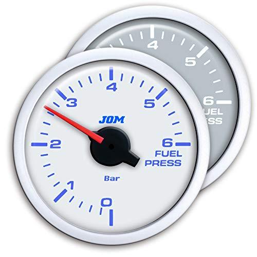 JOM Car Parts & Car Hifi GmbH 21119WB Zusatzinstrument, Dynamic, Kraftstoffdruck, Schrittmotor Technik, 2-farbige LED Anzeige wählbar, Ø52mm