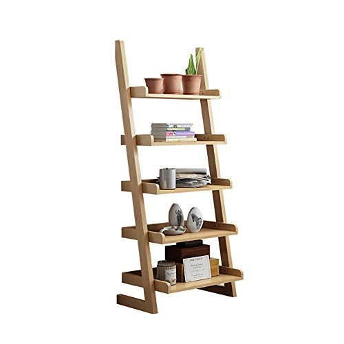 Eenvoudige Ladder Rack, Multi-layer massief houten boekenkast grond woonkamer Display Rack, Patio, Balkon, Corner Trapezium Flower Rack (Color : A section)