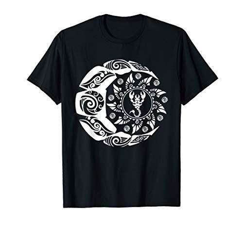 Maori Polynesian Tattoo Skorpion Scorpion Sternzeichen Mond T-Shirt