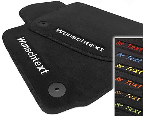 kh Teile Fußmatten passend für Golf 4 Automatten, Bestickt Text, Name, Werbung, Familienname, Lieferumfang: 2-teilig Vorn, Schwarz