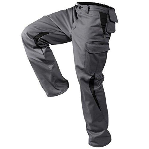 KÜBLER IMAGE DRESS NEW DESIGN Arbeitshose anthrazit, Größe 28, Herren-Arbeitshose aus verstärkter Baumwolle, bequeme Arbeitshose von KÜBLER Workwear