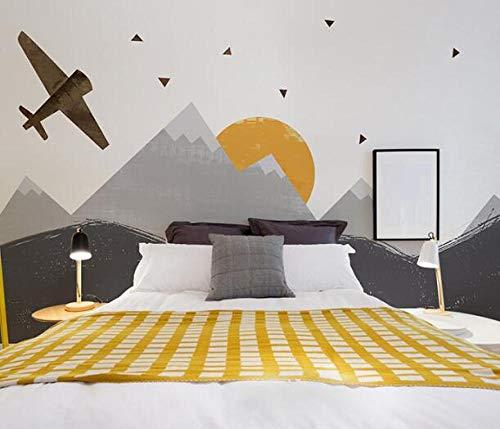 3D vliesbehang foto vlies premium fotobehang textuur vliegtuig 3D cartoon wallpaper 3D fotobehang voor kinderen babykamer 430*300 430 x 300.