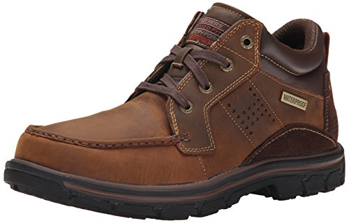 top 10 skechers hiking boots Skechers Segment Melego Chukka Men's Boots, Dark Brown, Size 10.5 D (M) US