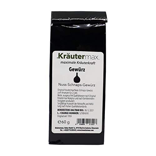 Nuss Schnaps Gewürz für 2 Liter Nussschnaps zum Ansetzen 10 x 60 g