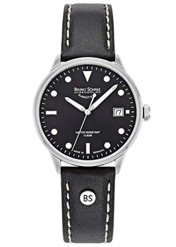 Bruno Söhnle Herren Analog Quarz Uhr mit Echtes Leder Armband 17-13183-791
