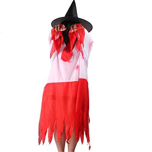 CHUAGNQI Halloween Geist kleidet blutige Erwachsene Cosplay Horror Kostüm bar Spukhaus Thema Performance Filmrequisiten
