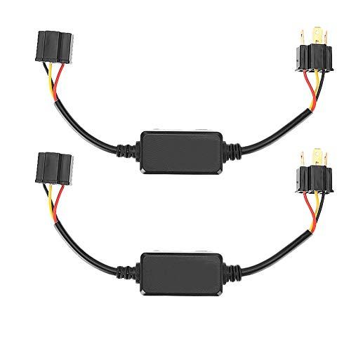 Decodificador de faros delanteros KIMISS 2 uds, decodificador de faros LED automático, filtro de cancelación de error antiinterferencia de audio de Radio para H4 H4