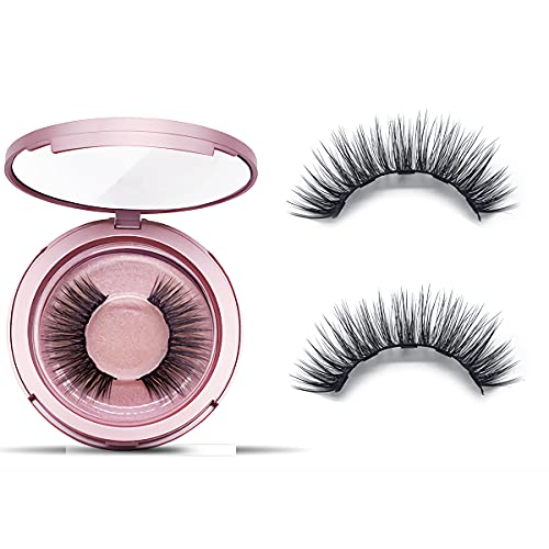 Magnetic Eyelashes Natural Looking -Style A4 Magnetic Eyelashes With 5 Double Strength Magnets, Last Up To 16 Hours,Reusable Up To 40 Times- 1 Pair Without Magnetic Eyeliner