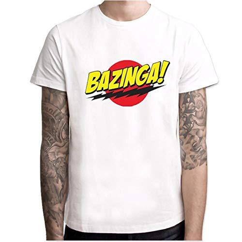 Camiseta de manga corta con cuello redondo y elástico transpirable para verano, diseño de drama de los Estados Unidos The Big Bang Psm19304 L