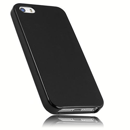 mumbi Hülle kompatibel mit iPhone SE (2016) / 5 / 5S Handy Case Handyhülle, schwarz