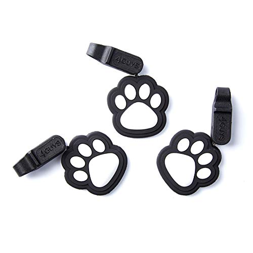 4GUYS Pet ID Tag, 3 Pack Easy Change Connector for Personalized ID Tag, EZ Clip, No Metal and Silent, One Size Fits All Dogs and Cats, No Tools Needed (Black/Gray)