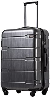 "COOLIFE Luggage Expandable(only 28"") Suitcase PC+ABS Spinner Built-in TSA Lock 20in 24in 28in Carry on"