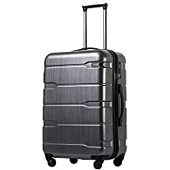 The suitcase benefits hugely from its ABS+PC hard plastic shell. it goes through insanely strict quality control test standards, creating strong and sturdy pieces that can withstand any forms of rough handling.Please note this luggage is sold separat...