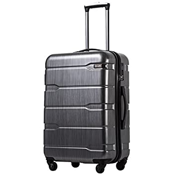 Coolife Luggage Expandable only 28   Suitcase PC+ABS Spinner Built-In TSA lock 20in 24in 28in Carry on