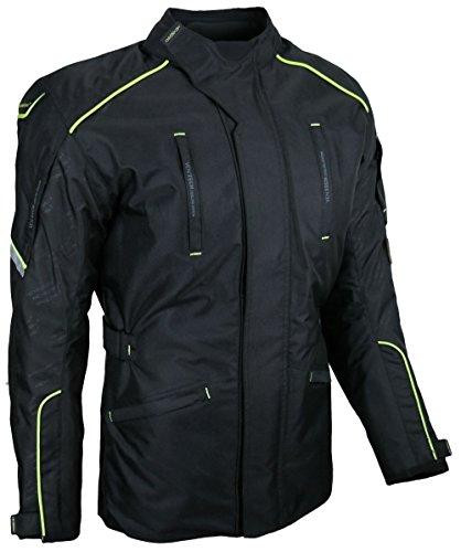 HEYBERRY Textil Touren Motorradjacke Motorrad Jacke schwarz neon Gr. L