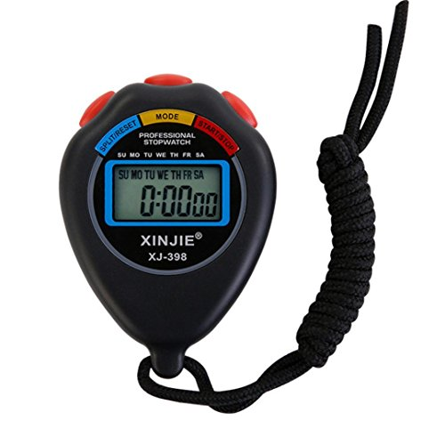 Bestpriceam LCD Professional Digital Handheld Chronograph Sports Stopwatch Timer Stop Watch (Black)