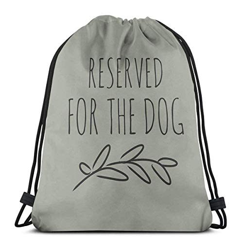 Clothing decoration Reserved for The Dog Shoulder Drawstring Bag Backpack String Bags School Rucksack Gym Sport Bag Lightweight